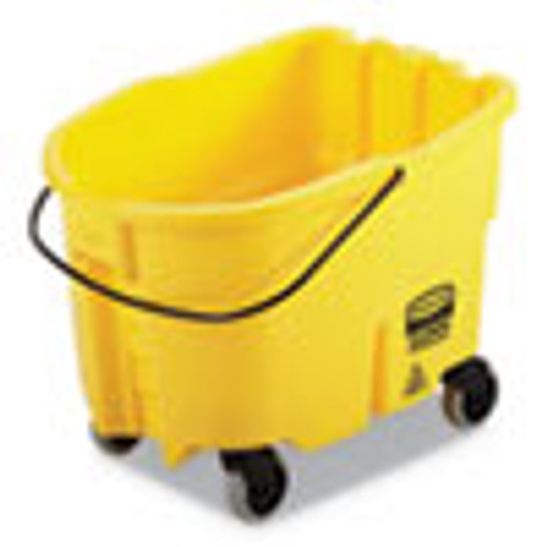 Rubbermaid Commercial WaveBrake 2 0 Bucket  26 qt  Plastic  Yellow (RCPFG747000YEL)