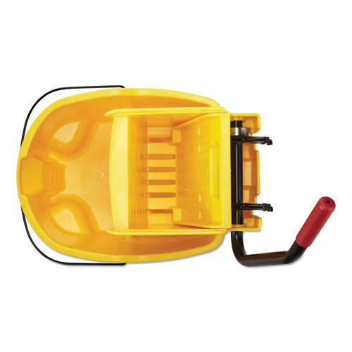 Rubbermaid Commercial WaveBrake 2 0 Bucket Wringer Combos  Side-Press  26 qt  Plastic  Yellow (RCPFG748000YEL)