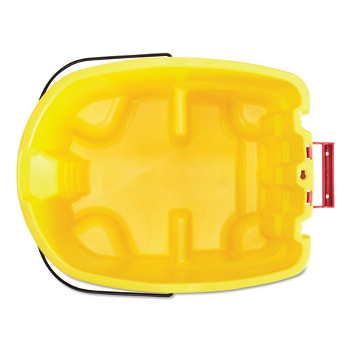 Rubbermaid Commercial WaveBrake 2 0 Bucket  8 75 gal  Plastic  Yellow (RCPFG757088YEL)