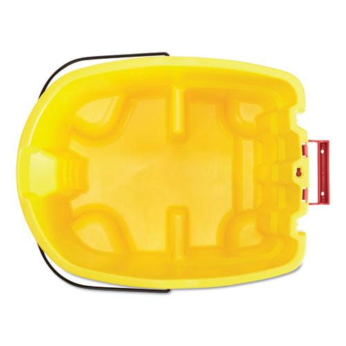 Rubbermaid Commercial WaveBrake 2 0 Bucket  8 75 gal  Plastic  Yellow (RCPFG757088YEL)