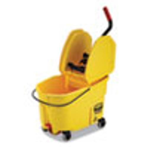 Rubbermaid Commercial WaveBrake 2 0 Bucket Wringer Combos  Down-Press  44 qt  Plastic  Yellow (RCPFG757688YEL)