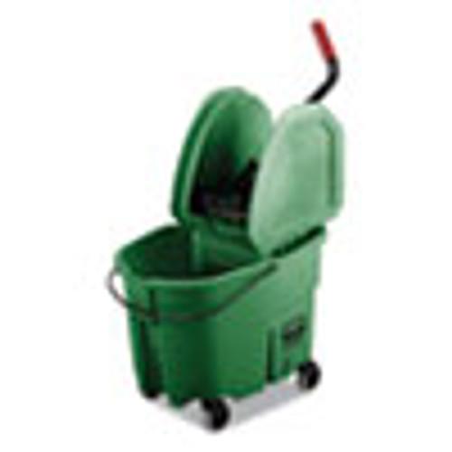 Rubbermaid Commercial WaveBrake 2 0 Bucket Wringer Combos  35 qt  Down Press  Plastic  Green (RCPFG757888GRN)