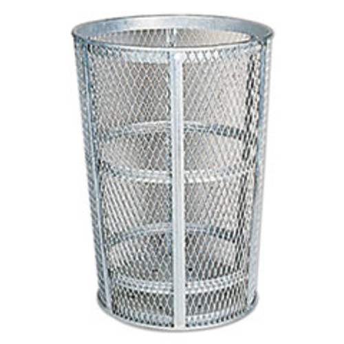 Rubbermaid Commercial Street Basket Waste Receptacle  23  Diameter  45 gal  Silver (RCPSBR52)
