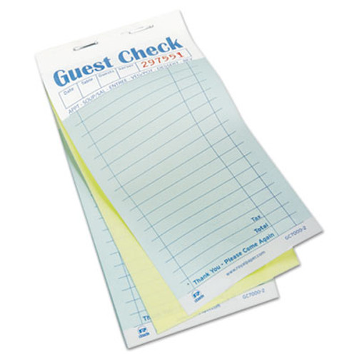 AmerCareRoyal Guest Check Book  Carbonless Duplicate  3 2 5 x 6 7 10  50 Book  50 Books Carton (RPPGC70002)