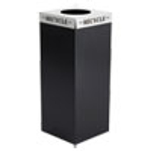 Safco Square-Fecta Lid  Recycle  15 5w x 15 5d x 3h  Silver (SAF2990RE)