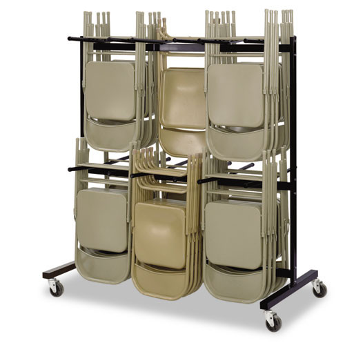 Safco Two-Tier Chair Cart  64 5w x 33 5d x 70 25h  Black (SAF4199BL)