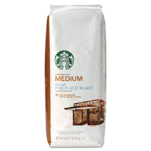 Starbucks Whole Bean Coffee  Decaf Pike Place Roast  1 lb Bag (SBK11015640)