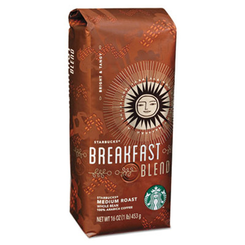 Starbucks Whole Bean Coffee  Breakfast Blend  1 lb Bag (SBK11017860EA)