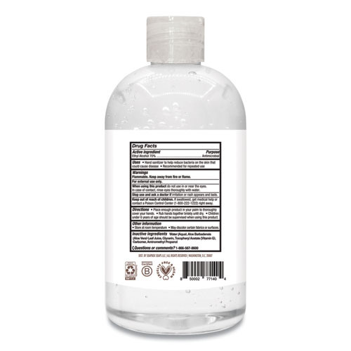 Soapbox 70  Alcohol Scented Hand Sanitizer  12 oz Pump Bottle  Citrus  15 Carton (SBX77140CT)