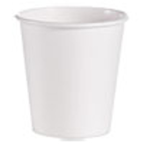 Dart Single-Sided Poly Paper Hot Cups  10 oz  White  1000 Carton (SCC510W)