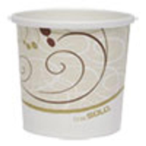Dart Double Poly Paper Food Containers  12 oz  Symphony Design  25 Pack  20Pack Crtn (SCCHS4125SYM)