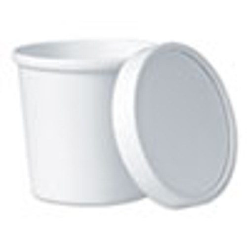 Dart Flexstyle Food Lid Container  3 6  Dia   12 1 oz  White  250 Carton (SCCKHSB12AWH)