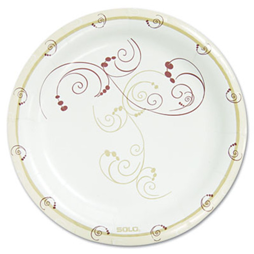 Dart Symphony Paper Dinnerware  Mediumweight Plate  8 1 2   Tan  500 Carton (SCCMP9RJ8001CT)