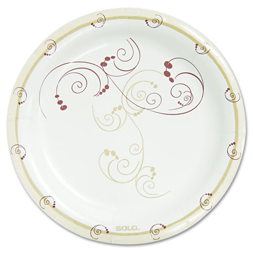 Dart Symphony Paper Dinnerware  Mediumweight Plate  8 1 2  Round  Tan  125 Pack (SCCMPR9J8001PK)
