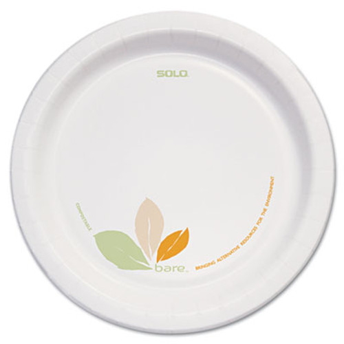 Dart Bare Paper Eco-Forward Dinnerware  8 1 2  Plate  Green Tan  250 Carton (SCCOFMP9RJ7234)