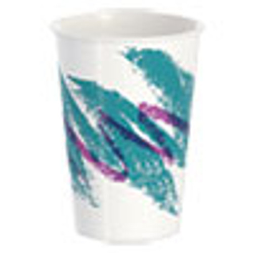 Dart Double Sided Poly Paper Cold Cups  16 oz  Jazz Design  50 Pack  20 Packs Carton (SCCRNP16PJ)
