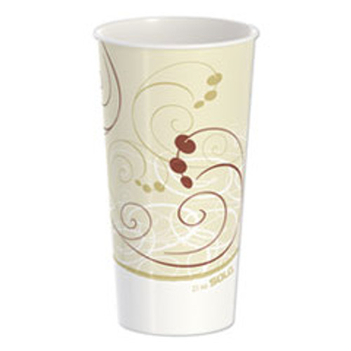 Dart Double Sided Poly Paper Cold Cups  21 oz  Symphony Design  50 Pack  20 Packs Carton (SCCRNP21PSYM)