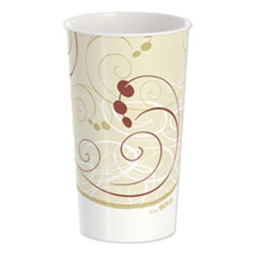 Dart Double Sided Poly Paper Cold Cups  44 oz  Symphony Design  40 Pack  12 Packs Carton (SCCTPH445PSYM)