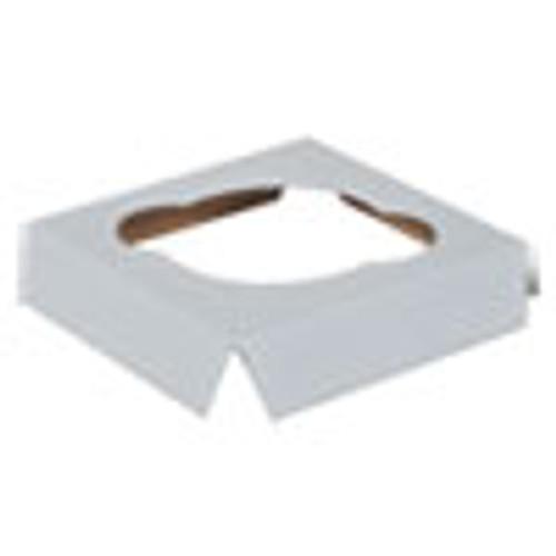 SCT Cupcake Holder Inserts  Paperboard  White Kraft  4 38 x 4 38 x 0 88  200 Carton (SCH1012)