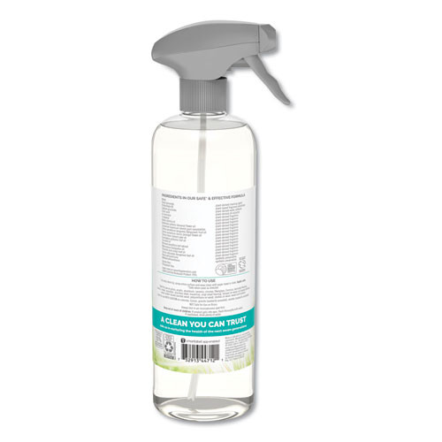 Seventh Generation Natural Glass and Surface Cleaner  Sparkling Seaside  23 oz  Trigger Bottle (SEV44712EA)