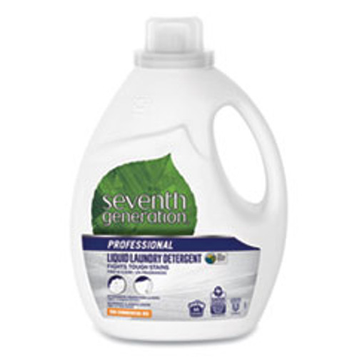 Seventh Generation Professional Liquid Laundry Detergent  Free and Clear  66 loads  100oz Bottle (SEV44724EA)