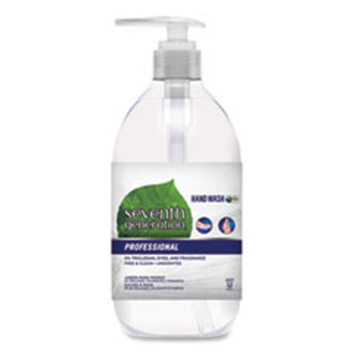 Seventh Generation Natural Hand Wash  Free   Clean  Unscented  12 oz Pump Bottle (SEV44729EA)