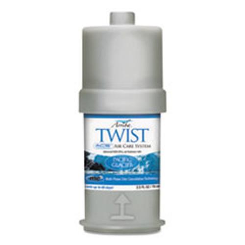 San Jamar Arriba Twist Fragrances  Pacific Glacier  2 5 oz Cartridge  6 Box (SJMRW107801227)
