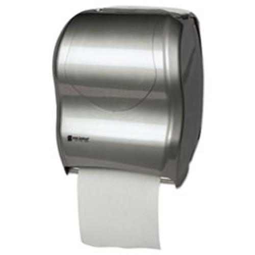 San Jamar Tear-N-Dry Touchless Roll Towel Dispenser  16 3 4 x 10 x 12 1 2  Silver (SJMT1370SS)