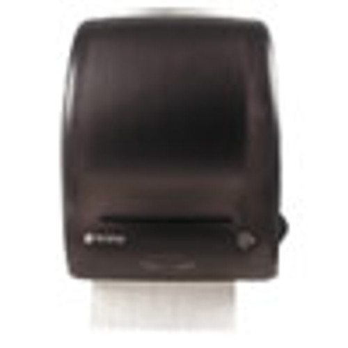 San Jamar Simplicity Mechanical Roll Towel Dispenser  15 25  x 13  x 10 25   Black (SJMT7400TBK)