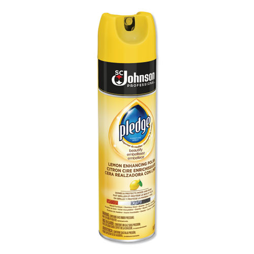 Pledge Furniture Polish  Lemon  14 2 oz  Aerosol  6 Carton (SJN301168)