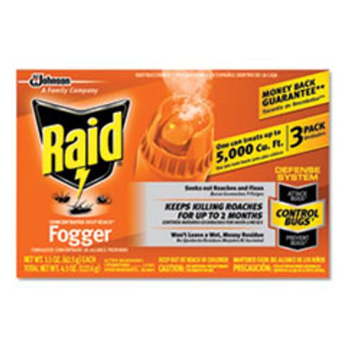 Raid Concentrated Deep Reach Fogger  1 5 oz Aerosol Can  3 Pack  12 Packs Carton (SJN305690)