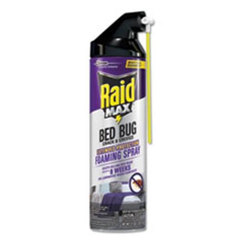 Raid Foaming Crack and Crevice Bed Bug Killer  17 5 oz  Aerosol  6 Carton (SJN305739)