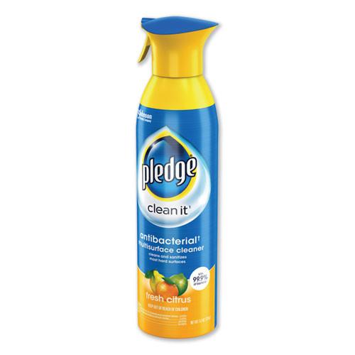 Pledge Multi Surface Antibacterial Everyday Cleaner  9 7oz Aerosol  6 Carton (SJN307951)