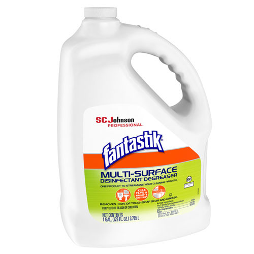 Fantastik Multi-Surface Disinfectant Degreaser  Pleasant Scent  1 Gallon Bottle (SJN311930EA)