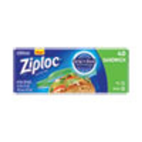 Ziploc Resealable Sandwich Bags  1 2 mil  6 5  x 5 88   Clear  40 Box (SJN315882BX)