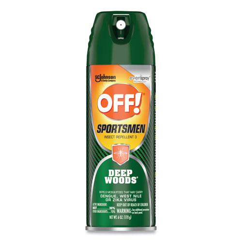 OFF! Deep Woods Sportsmen Insect Repellent  6 oz Aerosol  12 Carton (SJN317189)