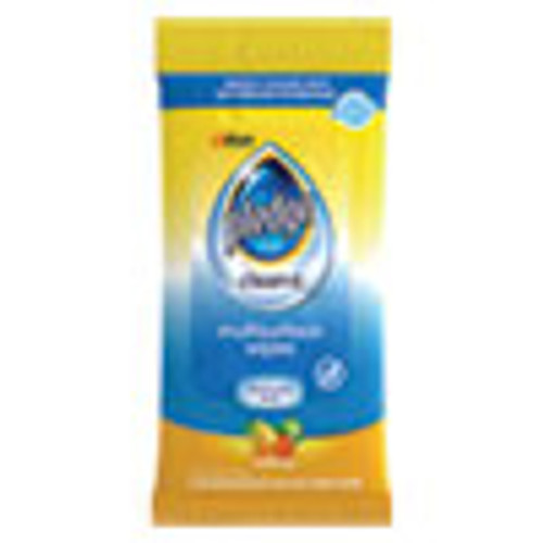 Pledge Multi-Surface Cleaner Wet Wipes  Cloth  7 x 10  Fresh Citrus  25 Pack (SJN319249EA)