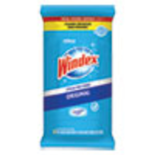 Windex Glass and Surface Wet Wipe  Cloth  7 x 8  38 Pack (SJN319251EA)