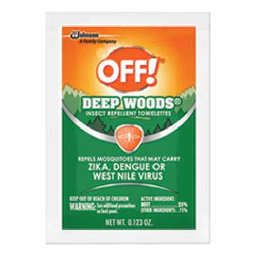 OFF! Deep Woods Towelette  0 28 Box  Unscented  12 Box (SJN611072BX)