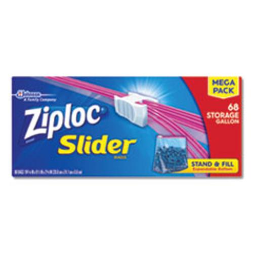 Ziploc Slider Storage Bags  1 gal  9 5  x 10 56   Clear  9 Carton (SJN651305)