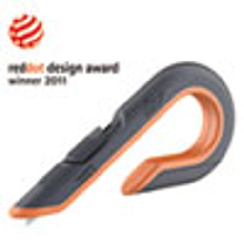 slice Box Cutters  Double Sided  Replaceable  Carbon Steel  Gray  Orange (SLI10400)