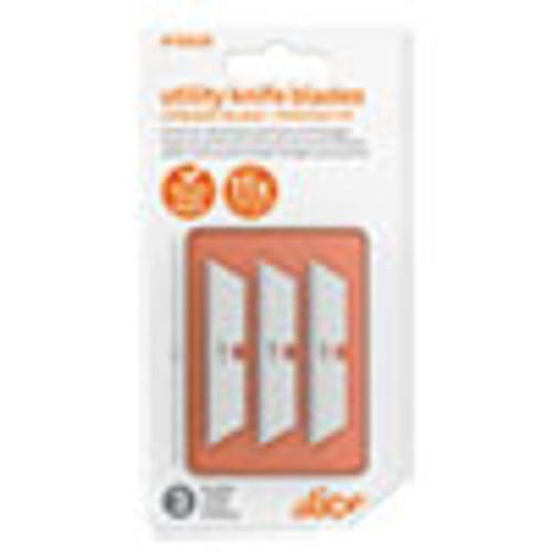 slice Safety Utility Knife Blades  Pointed Tip  Ceramic Zirconium Oxide  3 Pack (SLI10528)