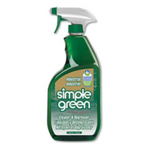 Simple Green Industrial Cleaner and Degreaser  Concentrated  24 oz Spray Bottle (SMP13012)