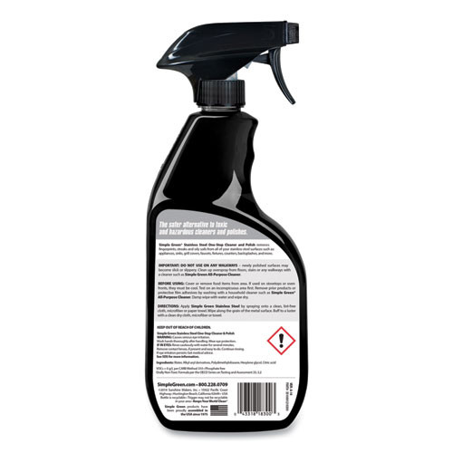 Simple Green Stainless Steel One-Step Cleaner   Polish  32oz Spray Bottle (SMP18300)