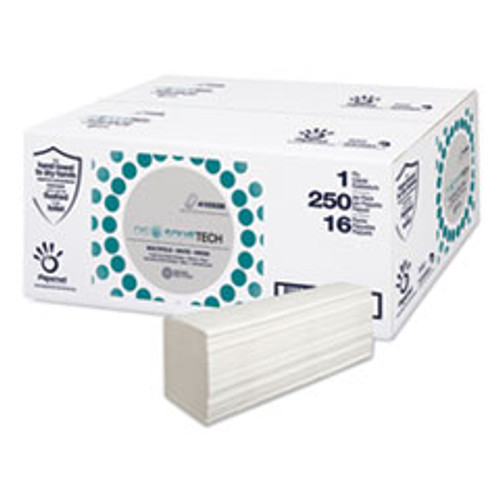 Papernet DissolveTech Paper Towel  5 3  x 8   White  16 Packs Carton (SOD410338)