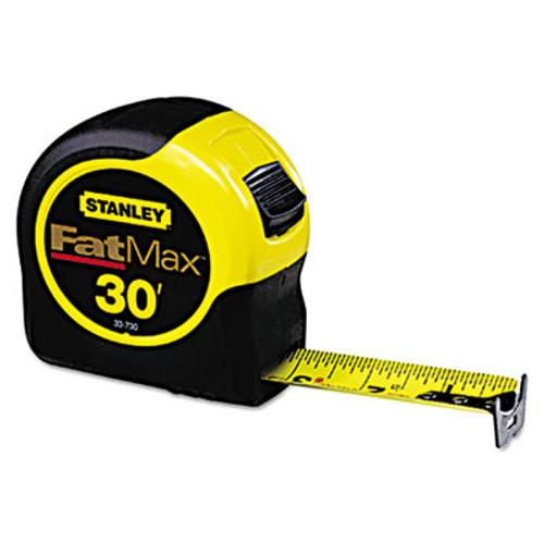 Stanley Tools Fat Max Tape Rule  1 1 4  x 30ft  Plastic Case  Black Yellow  1 16  Graduation (SQN33730)