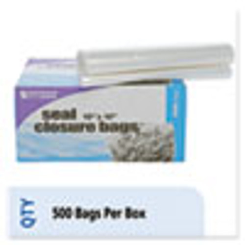 Stout by Envision Seal Closure Bags  2 mil  10  x 10   Clear  500 Carton (STOZF007C)