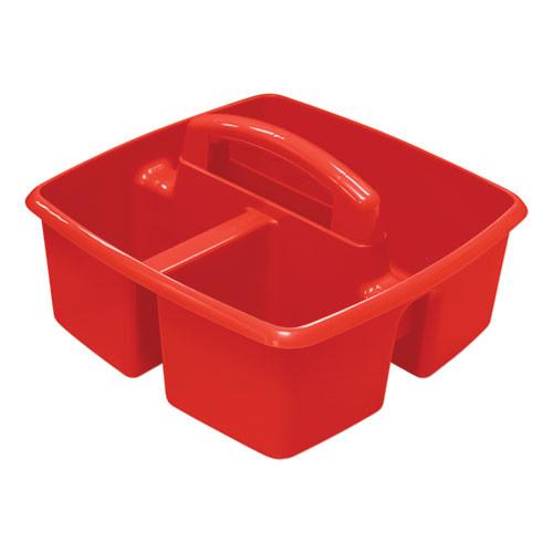 Storex Small Art Caddies  9 25 x 9 25 x 5 25  Blue Red Yellow Green Purple  5 per pack (STX00941U06C)