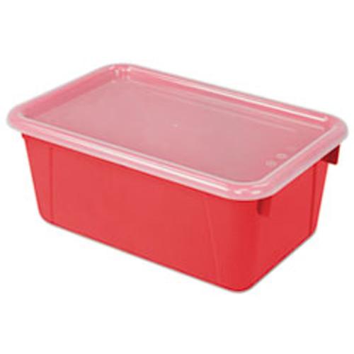 Storex Cubby Bins  12 25 x 7 75 x 5 13  Red  6 PK (STX62407U06C)