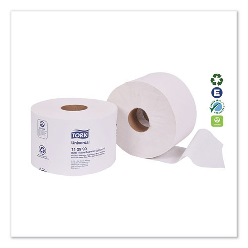Tork Universal Bath Tissue Roll with OptiCore  Septic Safe  1-Ply  White  1755 Sheets Roll  36 Carton (TRK112990)